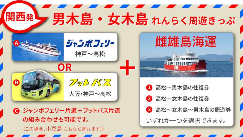 関西発、男木島・女木島れんらく周遊きっぷ
